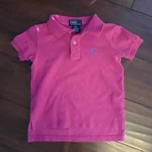 Polo by Ralph Lauren hit pink cotton Polo shirt 2T